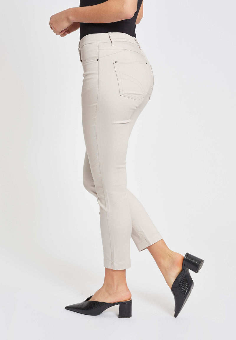 Faith Slim Cropped Bukser - Grey Sand