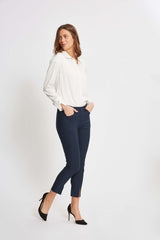 Grace FS Slim Bukser Cropped - Navy