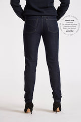 Jane Slim Bukser - Dark Blue Denim