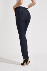 Lonnie Pin Slim Bukser - Dark Blue Denim