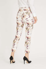 Madison Slim Crop - Off White flower