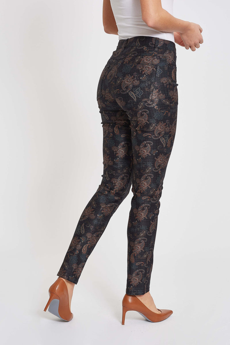 Laura Slim ML - Black/Mint Print