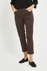 Piper Regular Cropped Bukser - Warm Brown