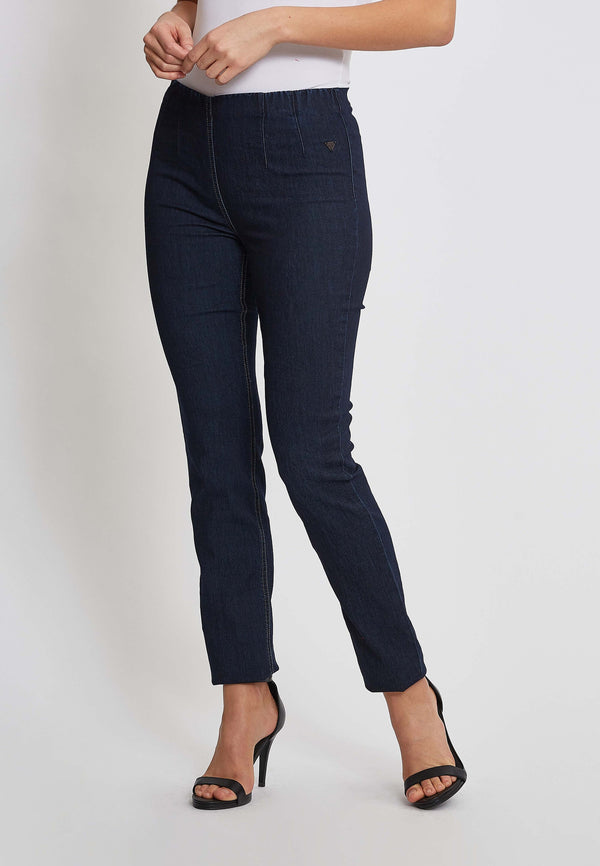 Vicky Slim Bukser - Dark Blue Denim
