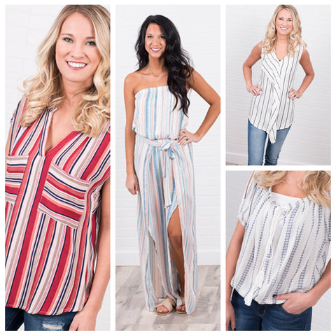 Vertical Striped Tops