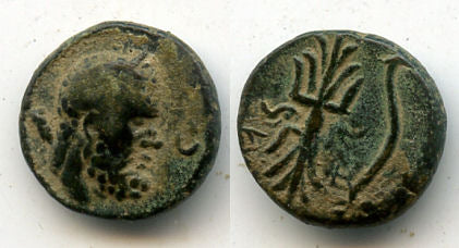 Nice ancient Greek AE13 from Selge, Pisidia, 2nd-1st century BC