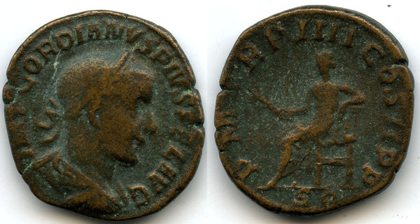 AE Sestertius of Gordian III (138-244 AD), Rome Mint, struck 241/242 AD, Roman Empire