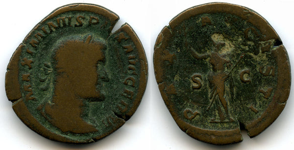 Huge! Bronze sestertius of Maximinus (235-238 AD), Rome mint, Roman Empire