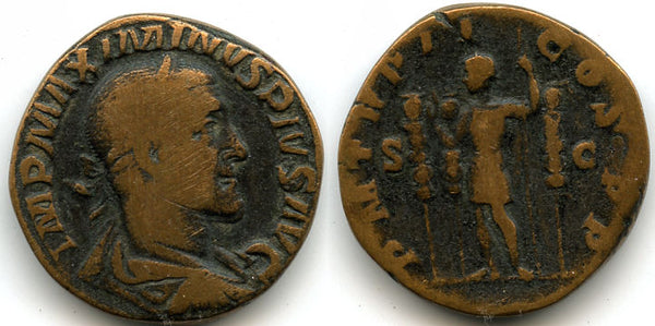Large bronze sestertius of Maximinus (235-238 AD), Rome mint, Roman Empire