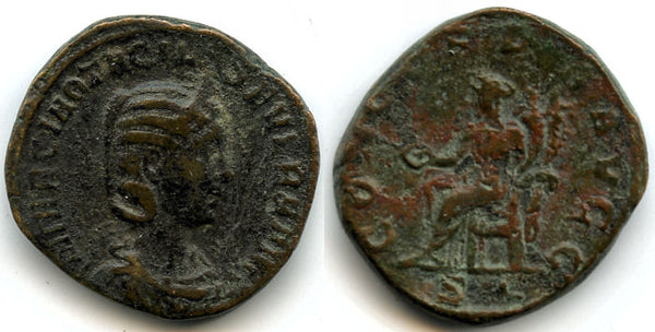 Large bronze sestertius of Otacilia Severa, wife of Philip I (244-249 AD), Rome mint, Roman Empire