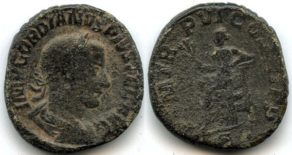 AE Sestertius of Gordian III (138-244 AD), Rome Mint, struck 242/243 AD, Roman Empire