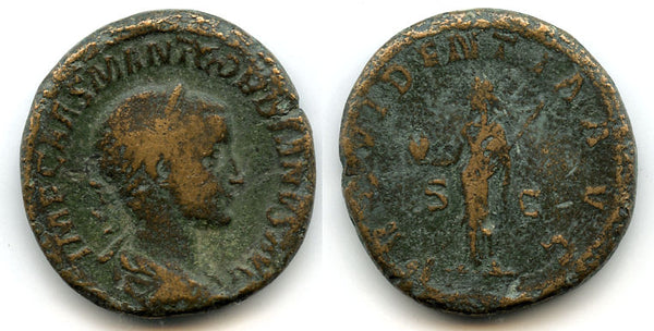 AE Sestertius of Gordian III (138-244 AD), Rome Mint, Roman Empire - PROVIDENTIA