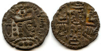 Rare silver drachm, Turco-Hephthalite lords of Bukhara in the name of the Abbasid caliph al-Mahdhi (AD 775-785)