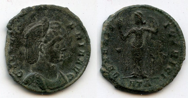 Excellent follis of Galeria Valeria (daughter of Diocletian and wife of Galerius), 308-311 AD, Heraclea mint, Roman Empire