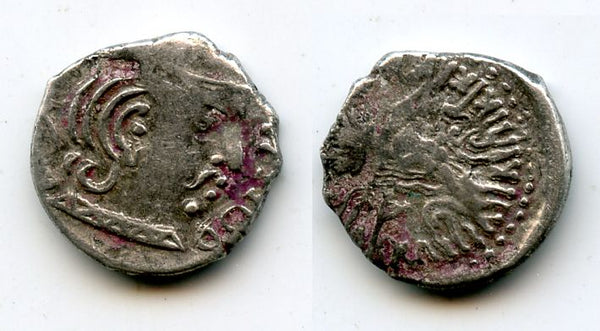 Very rare silver drachm of Rudrasimha III (ca.387-415 AD), Indo-Sakas - the last ruler of the Western Kshatrapas