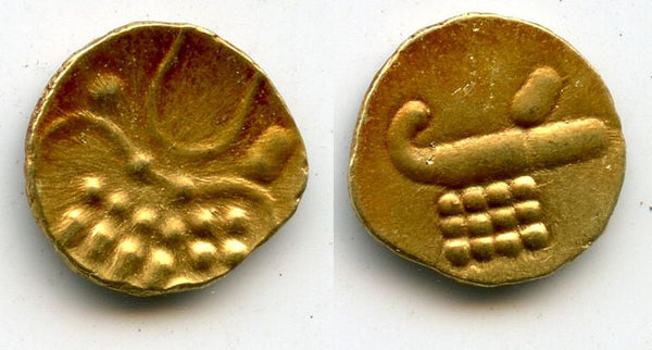 Unknown issue - gold Vira Raya fanam, possibly issued in Calicut, 16th-18th century (Herrli #1.23.66)