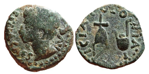 Nice AE19 of Augustus (27 BC - 14 AD) from Colonia Patricia (Cordoba), Spain, Roman Provincial Coinage