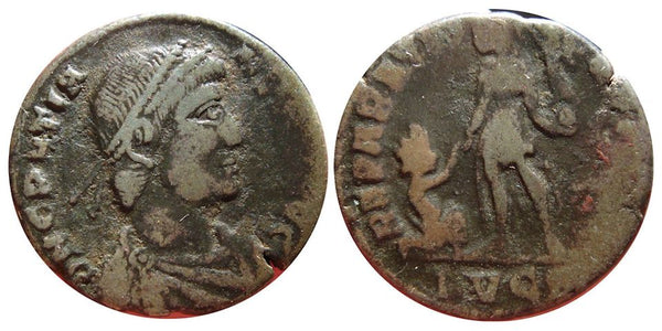 AE2 of Gratian (375-383 AD), Lugdunum (Lyons) mint, Roman Empire
