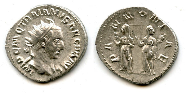 Attractive silver antoninianus of Trajan Decius (249-251 AD), Rome mint, Roman Empire
