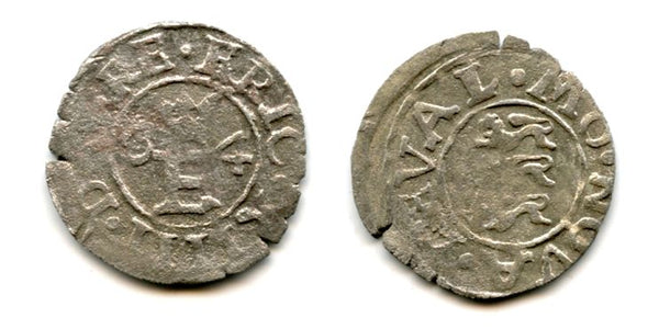 Silver shilling of Eric XIV (1560-1568), 1564, Reval mint, Kingdom of Sweden