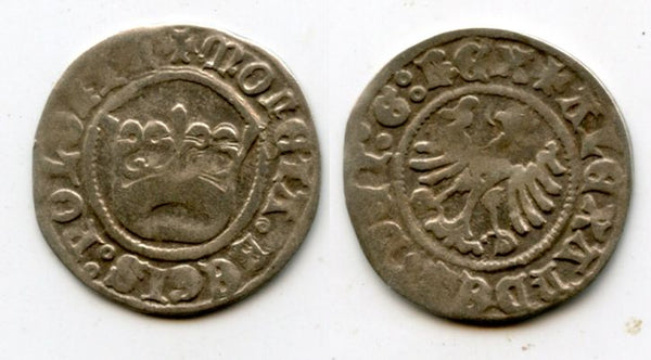 Very nice quality silver 1/2 grosso of Alexander Jagellon (1501-1506), Poland