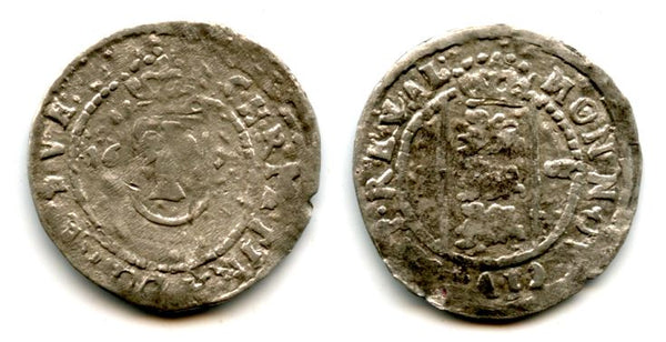 Silver 1 ore of Christina (1632-1654), dated 1651, Reval mint, Kingdom of Sweden