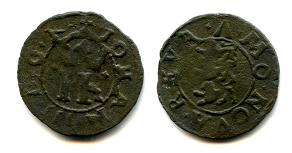Billon shilling of John III (1568-1592), ca.1570, Reval mint, Kingdom of Sweden