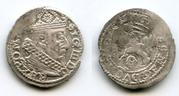 Scarcer silver grosz of Sigismund III (1587-1632), 1627, Vilno mint, Lithuania, Polish-Lithuanian Commonwealth