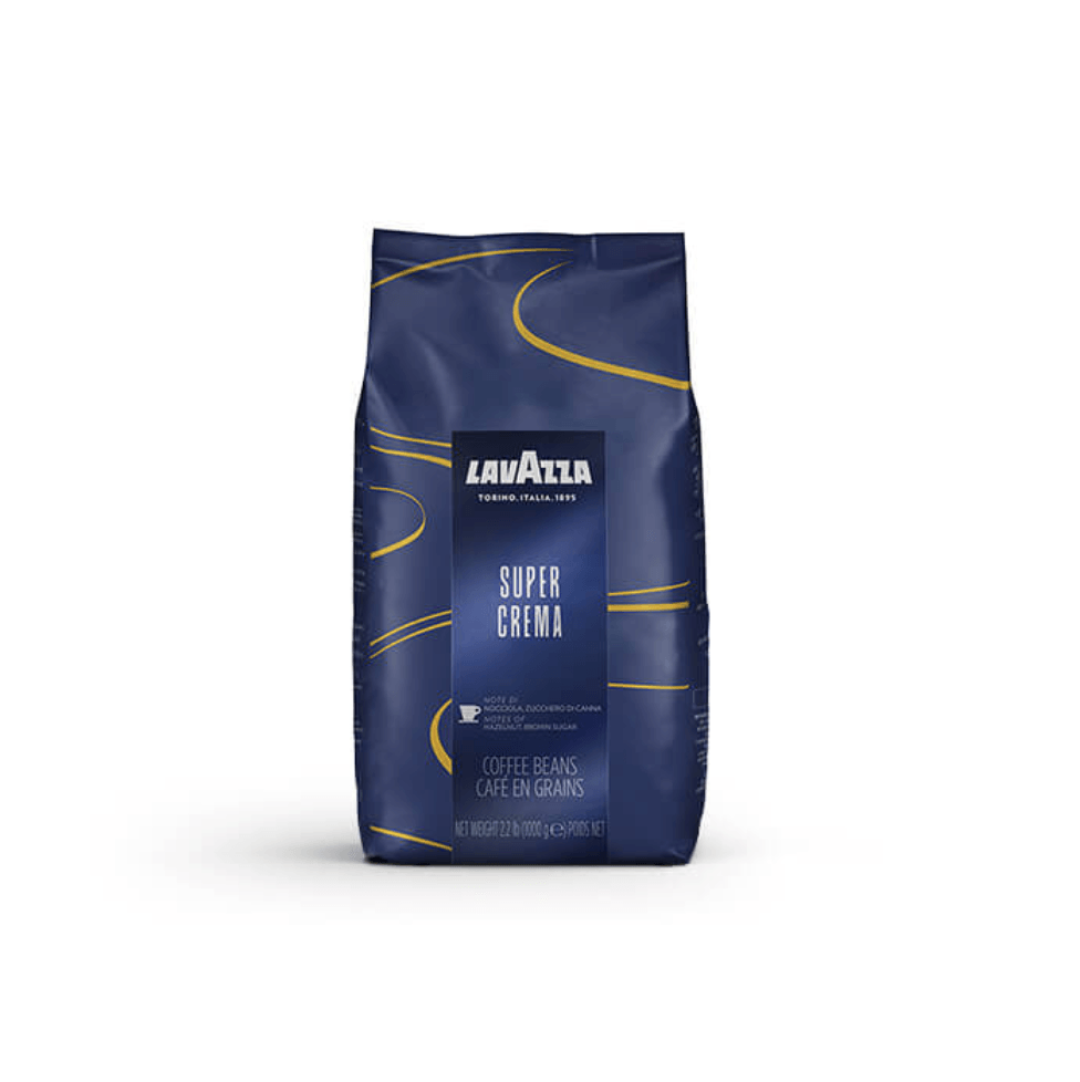 LAVAZZA SUPER CREMA פולי קפה 1 ק׳׳ג לוואצה סופר קרמה