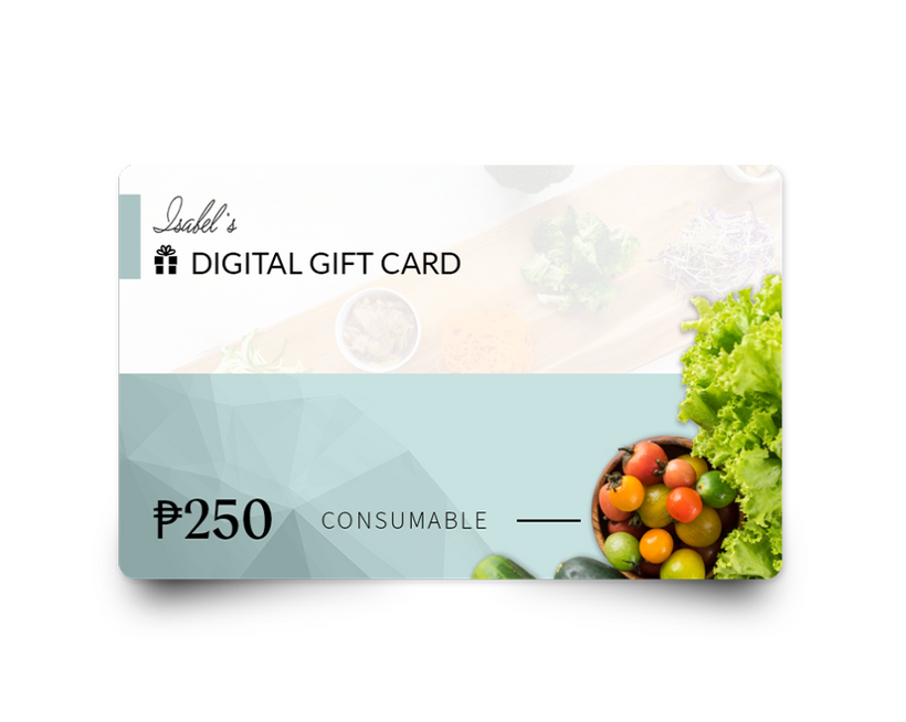 Isabel's Digital Gift Cards