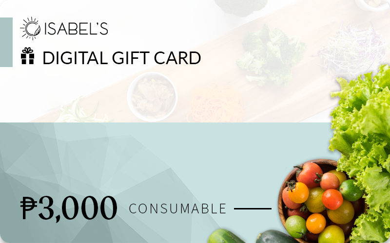 Isabel's Digital ₱3,000 Gift Card