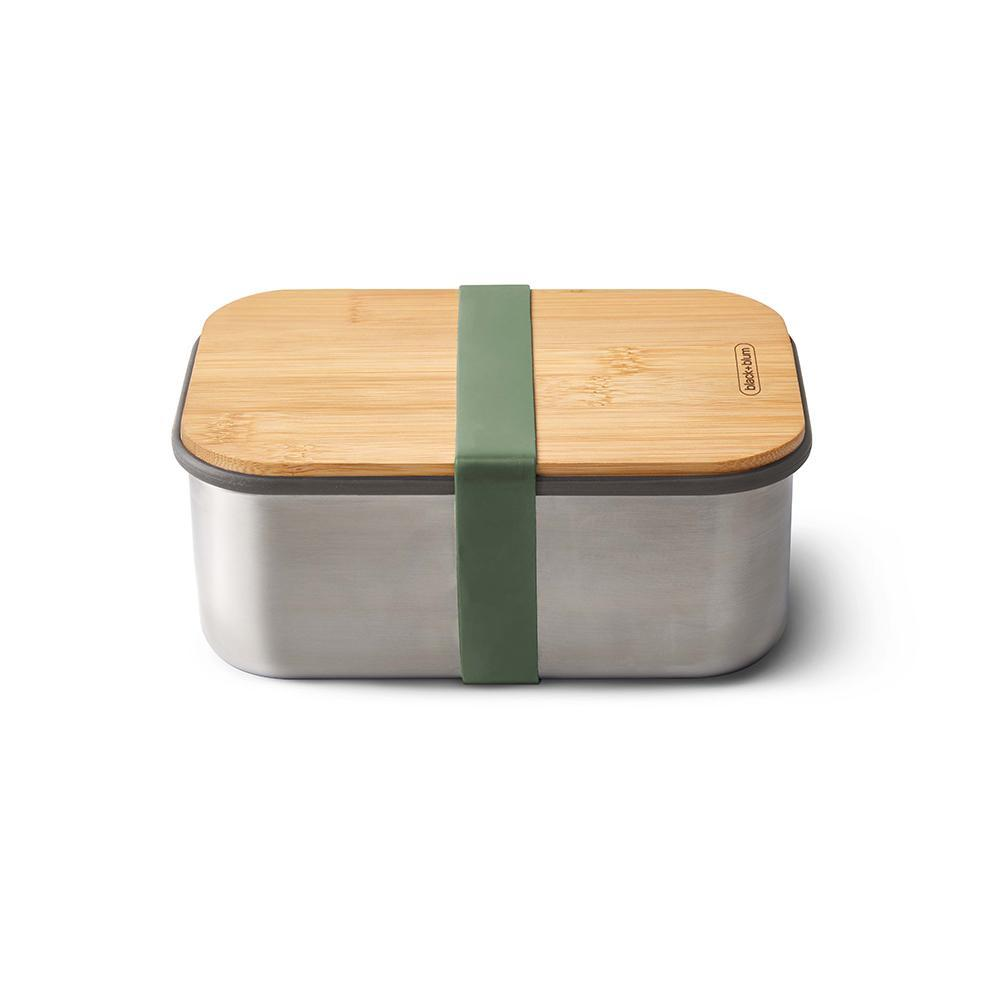Stainless Steel Sandwich Box Large - Olive