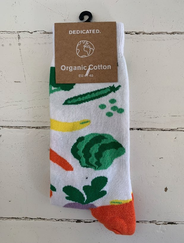 Dedicated Organic Cotton Socks - Vegetables White
