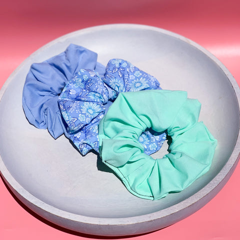 Blue Scrunchie Bundle