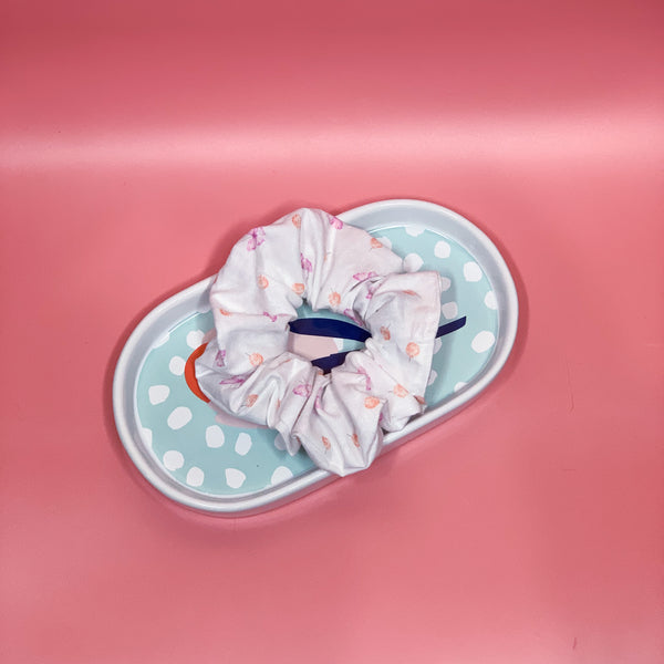 White Butterfly Scrunchie