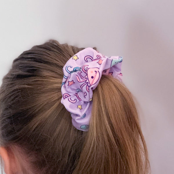 Purple Octopus Scrunchie