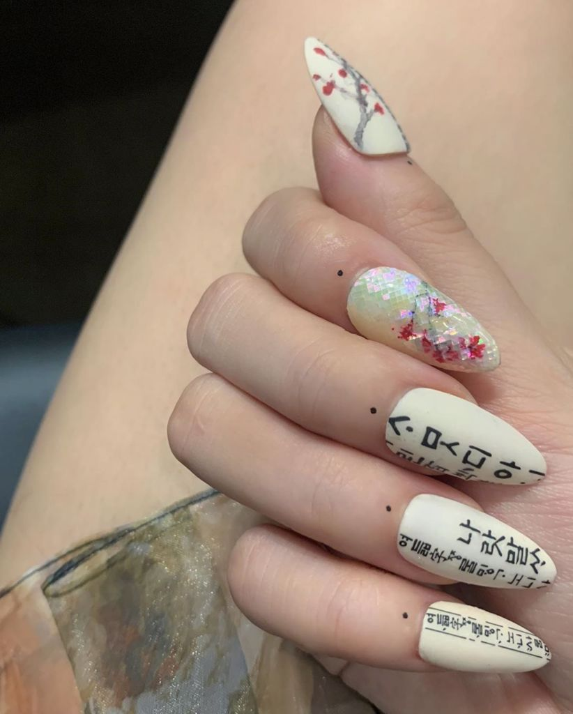 Close Up of Blackpink Jisso How You Like That Nails