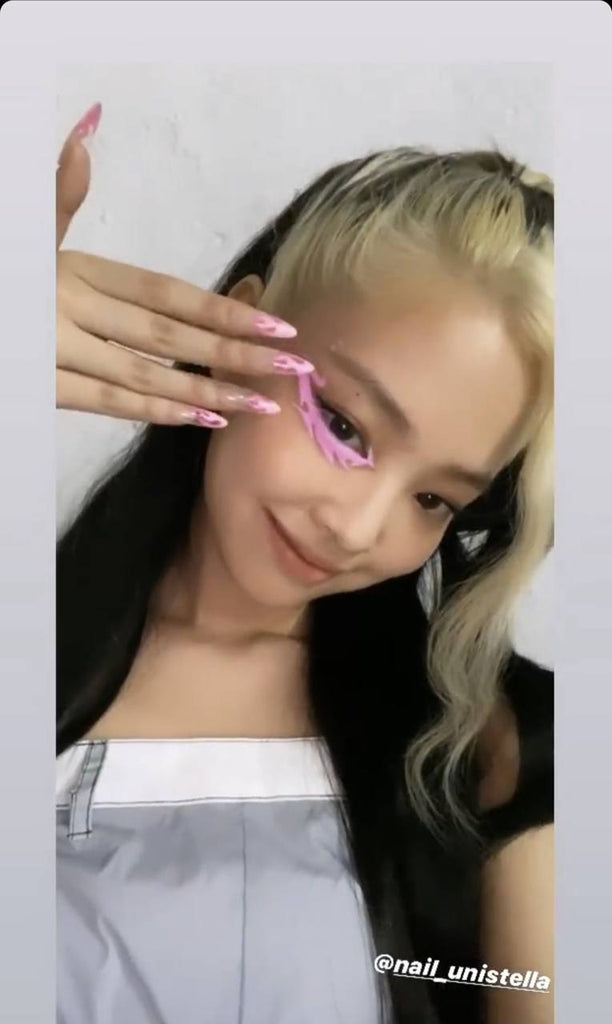 Jennie On Instagram With Flame Nails