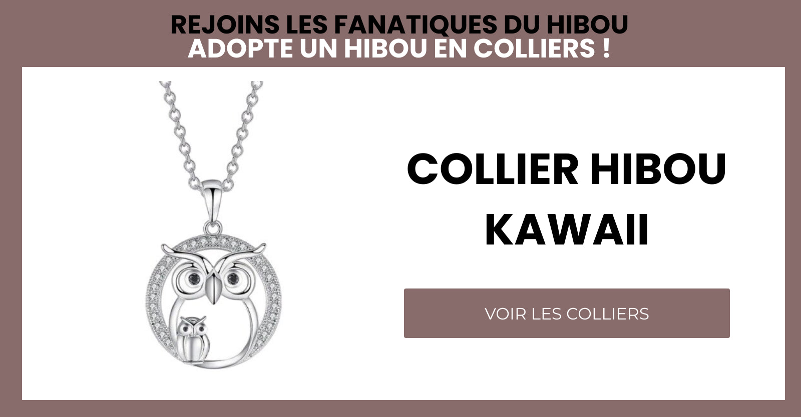 COLLIER HIBOU KAWAII