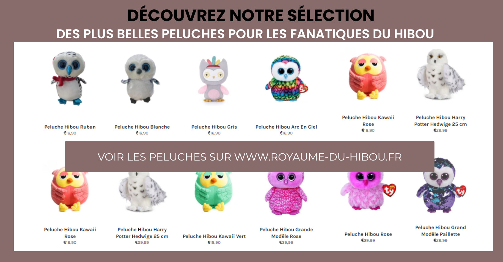 Peluches Hibou