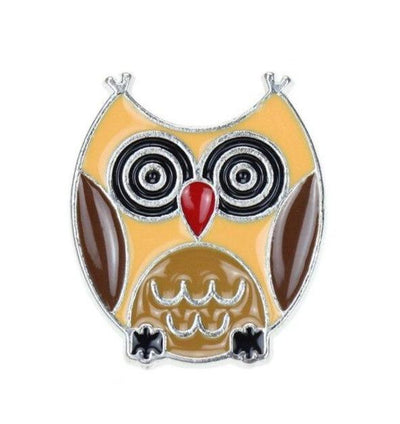 Broche Hibou Kawaii Jaune