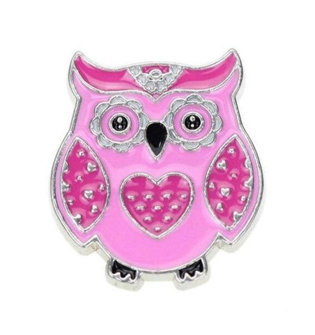 Broche Hibou Kawaii Rose