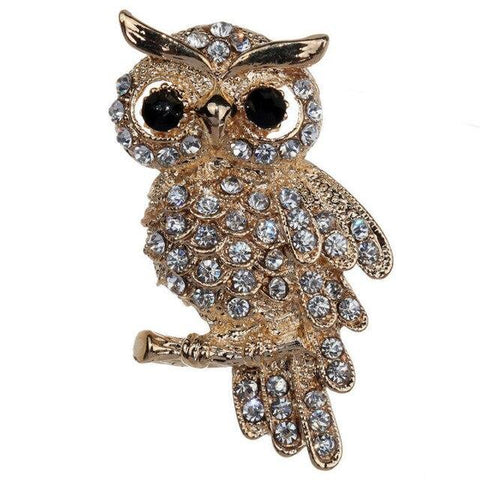 Broche Hibou Strass