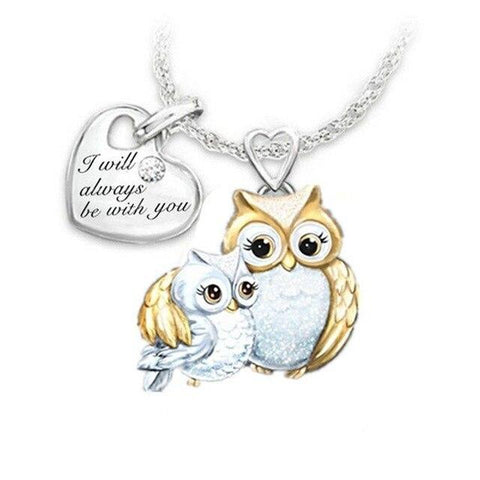 Collier Hibou Or