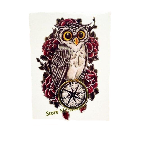 Tatouage Hibou Kawaii