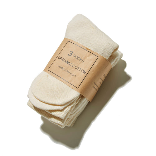 ORGANIC COTTON SOCKS 3PACKS - A'r139 Kamakura