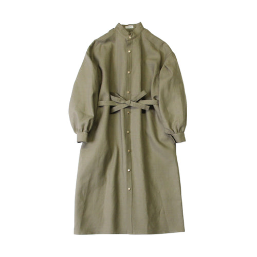 TUSCAN DRESS IRISH LINEN(SAGE) - A'r139 Kamakura