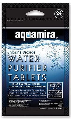 GearAid's Aquamira® Water Purifier Tablets 24-Pack