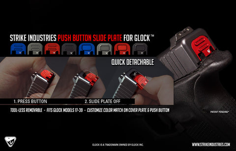Strike Industries Slide Cover Plate for Glock Red Version Two