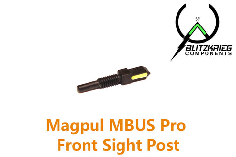 Blitzkrieg Components Spike Front Sight Post  (Luminescent Green Stripe) Magpul MBUS PRO